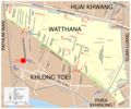 Map Watthana - Mapsof.Net Map