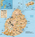 Mauritius Physical Map - Mapsof.Net Map