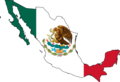 Mexico Flag Map 1 - Mapsof.net
