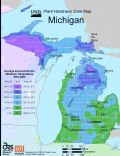 Michigan Plant Hardiness Zone Map - Mapsof.Net Map
