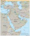 Middle East Reference Map - Mapsof.net