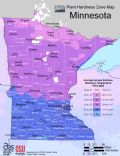 Minnesota Plant Hardiness Zone Map - Mapsof.Net Map