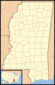 Mississippi Locator Map With Us - Mapsof.Net Map
