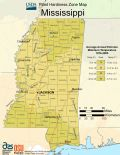 Mississippi Plant Hardiness Zone Map - Mapsof.Net Map