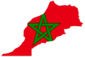 Morocco Flag Map 1 - Mapsof.Net Map