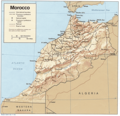 Moroccon Physical - Mapsof.Net Map