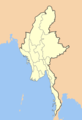 Myanmar Outline Map - Mapsof.Net Map