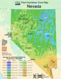 Nevada Plant Hardiness Zone Map - Mapsof.Net Map