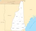 New Hampshire County Map - Mapsof.Net Map