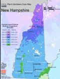 New Hampshire Plant Hardiness Zone Map - Mapsof.Net Map
