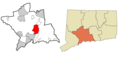 New Haven County Connecticut Incorporated And Unincorporated Areas North Haven Highlighted - Mapsof.net