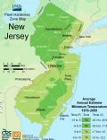 New Jersey Plant Hardiness Zone Map - Mapsof.Net Map