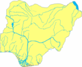 Nigeria Blank With Rivers - Mapsof.net