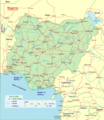 Nigeria Detailed Map - Mapsof.Net Map