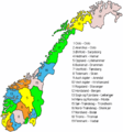 Noorwegen Provincies - Mapsof.net