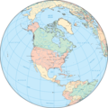 North America Globe - Mapsof.Net Map