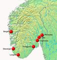 Norway Hynor Hydrogen Highway - Mapsof.Net Map