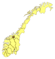 Norway Counties Trollheimen - Mapsof.net