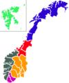 Norwayregions - Mapsof.Net Map