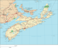 Nova Scotia Map Big - Mapsof.Net Map