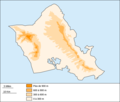 Oahu Blank Map - Mapsof.net