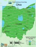 Ohio Plant Hardiness Zone Map - Mapsof.Net Map