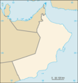 Oman Map Blank - Mapsof.Net Map
