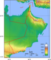 Oman Topography - Mapsof.Net Map