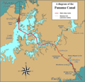 Panama Canal Rough Diagram - Mapsof.net