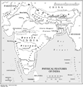 Physical Features of India - Mapsof.Net Map