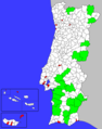 Portuguese Municipalities Area - Mapsof.Net Map
