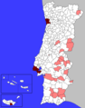 Portuguese Municipalities Density1 - Mapsof.Net Map