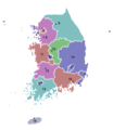 Provinces of South Korea - Mapsof.net