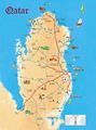 Qatar Tourist Map - Mapsof.Net Map
