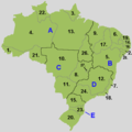 Regions And States of Brazil - Mapsof.Net Map