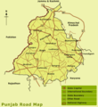 Road Map of Punjab - Mapsof.net