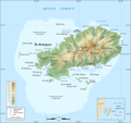 Rodrigues Island Topographic Map Fr - Mapsof.Net Map