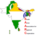 Saarc - Mapsof.Net Map