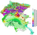 Seismic Geomorphologic Map Friuli Venezia Giulia - Mapsof.Net Map