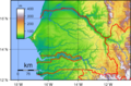 Senegal Topography - Mapsof.net