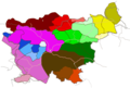 Slovenian Dialects - Mapsof.Net Map