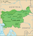 Slovenian Language Map - Mapsof.Net Map
