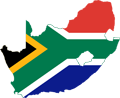 South Africa Flag Map - Mapsof.Net Map