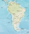 South America Physical Map 2 - Mapsof.Net Map