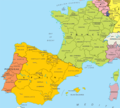Spain And France - Mapsof.Net Map