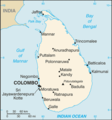 Sri Lanka Cia Wfb Map - Mapsof.Net Map