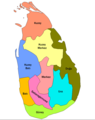 Sri Lanka Provinces Tr - Mapsof.Net Map