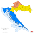 Statistical Regions of Croatia - Mapsof.Net Map