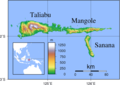 Sula Islands Topography - Mapsof.net