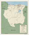 Suriname Political Map - Mapsof.Net Map